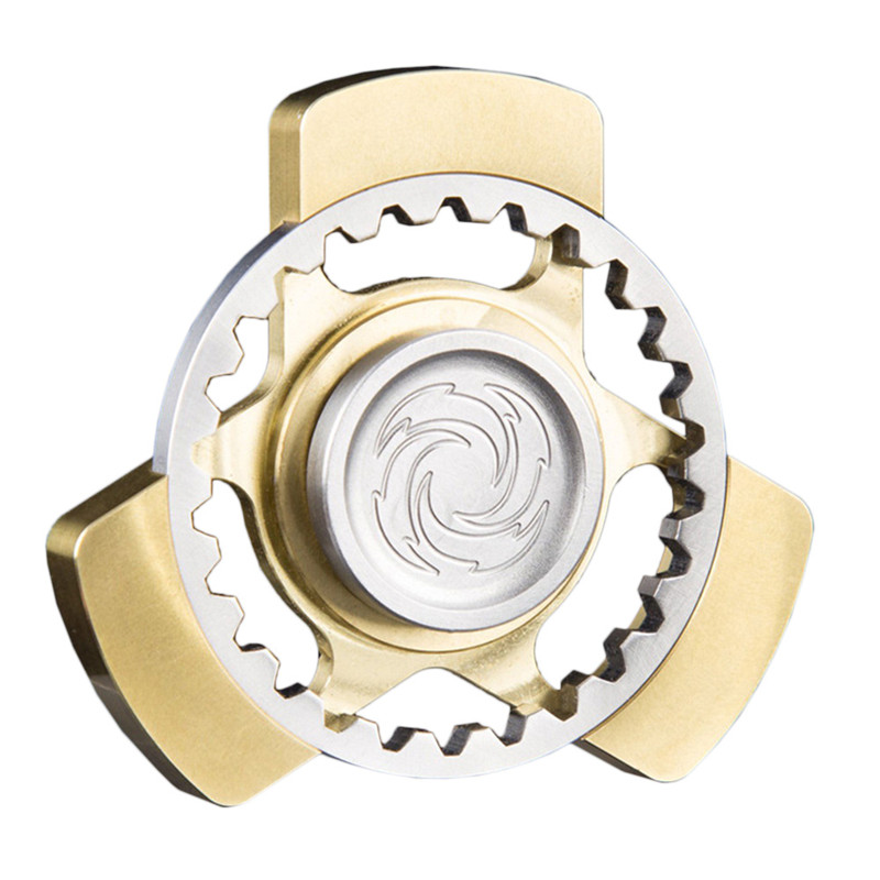 Brass Gear Spinner Whirlpool Hand Spinner EDC Kids Adult Finger Spinner Relieve Stress Toy For Autism and ADHD four leaves colorful wings rainbow butterfly shaped metal hand fidget spinner toy edc toy spinner gift kids adult finger