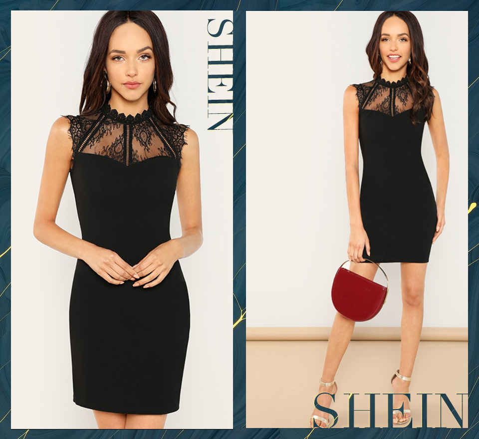 96830bb0c6 Detail Feedback Questions about SHEIN Black Party Embroidery Sheer ...