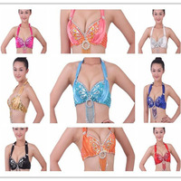 2015 Hot Selling New Women Cheap Belly Dance Costume Bra Top For Sale Various Colors