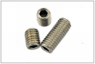 100/pk M6*25mm 304 Stainless steel Hex Socket Set Screw Cup Point grub screw