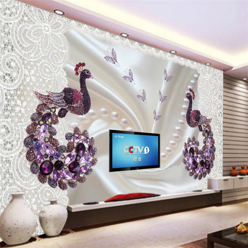 Beibehang Wallpaper Mural Custom Living Room Bedroom Silk