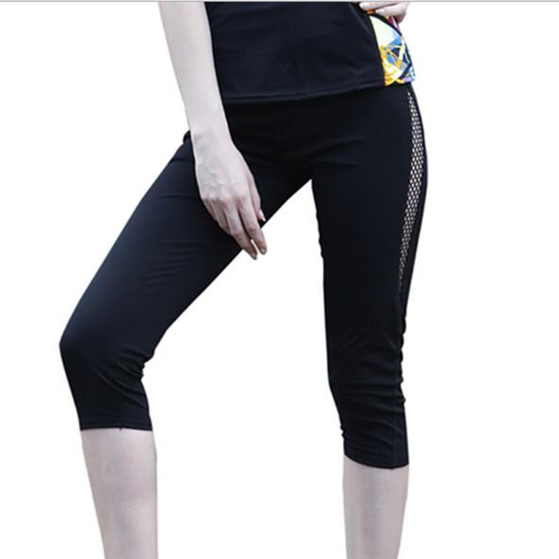 leggings women New stitching hollow high waist 7 points pants slim wear outerwear fashion stretch slim hips leggings women
