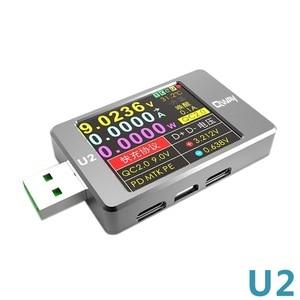 Image 5 - Qway U2p corrente e tensione meter tester USB QC4 + PD3.0 2.0PPS protocollo di capacità di carica veloce dimensione