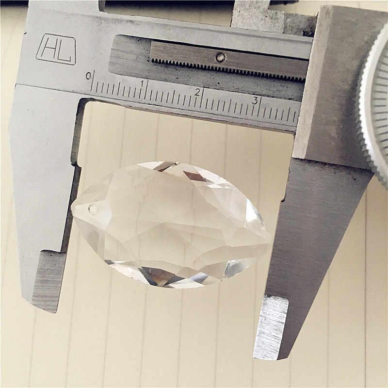 מכונת חיתוך 50 יח'\חבילה קריסטל מרקיז 38*22*12mm Prism Suncatcher תליית נברשת פיאות מחודדת סגלגל תליונים