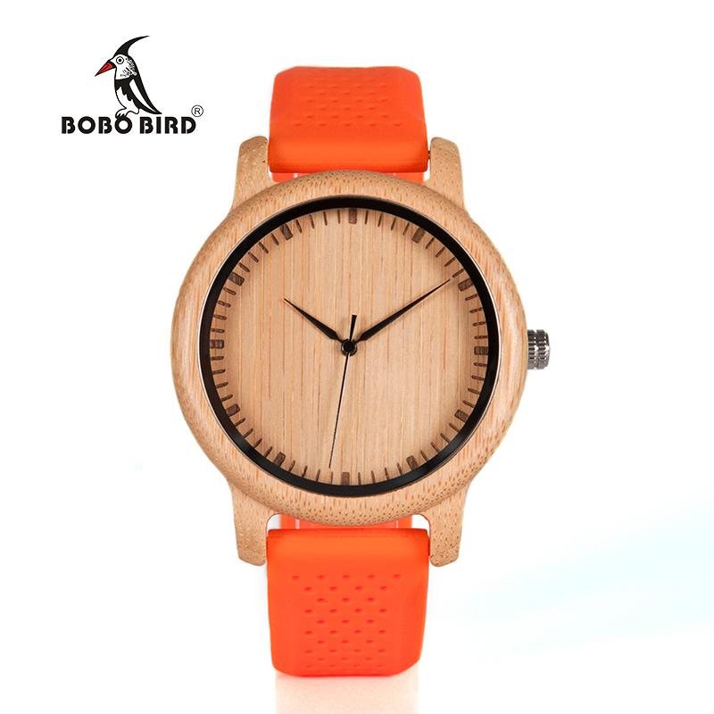 Zegarek drewniany Bobo Bird Color Silikon Orange B05 6