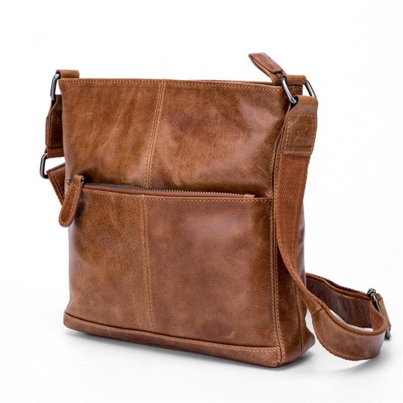 Cow Genuine Leather Messenger Bags Men Travel Business Crossbody Shoulder Bag For Man Sacoche Homme Bolsa Masculina qibolu handbag men bag briefcase business travel laptop messenger crossbody shoulder bag sacoche homme bolsa masculina mba17