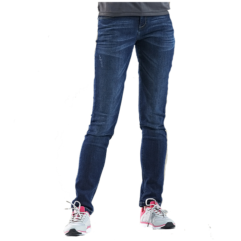 Fashion Women Spring Autumn Elastic Jeans Femme Cotton Mid Waist Jeans Woman Classic Casual Denim Pants Slim Straight Trousers