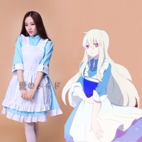 Women Girl Japan Anime Kagerou Project KOZAKURA MARI Lolita Dress Cosplay Maid Apron Dress Outfit M L XL