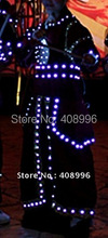 LED luminous suit for performance/glowing clothes /light up costumes/The Qing Army clothing/Performance Apparel