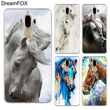 DREAMFOX M511 Horse Painting Soft TPU Silicone Case Cover For Huawei Mate Nova 2 9 10 20 30 Lite Pro Plus