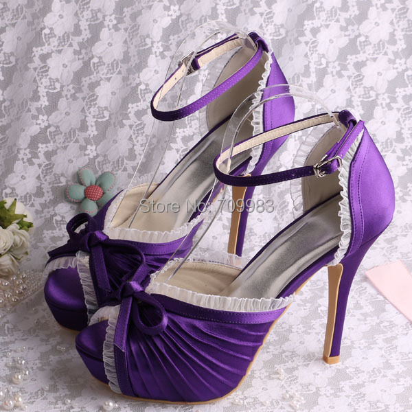 Handmade Purple Platform Ladies Shoes High Heel Sandals Peep Toes Wedding  Party Wear Free Shipping a729f13a67bc