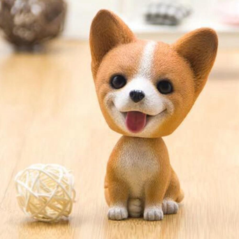 Nodding Dog Car Shake Head Dog Dolls Dashboard Car Decoration Accessories Auto Shaking Head Toy for Automobile Decor Car-styling