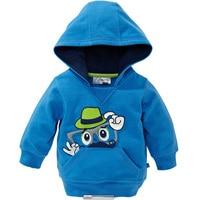 2016 Winter Fall Baby Boy Hoodies Beard Printing Blue Children Clothing Brand Coat Long Sleeve Kid