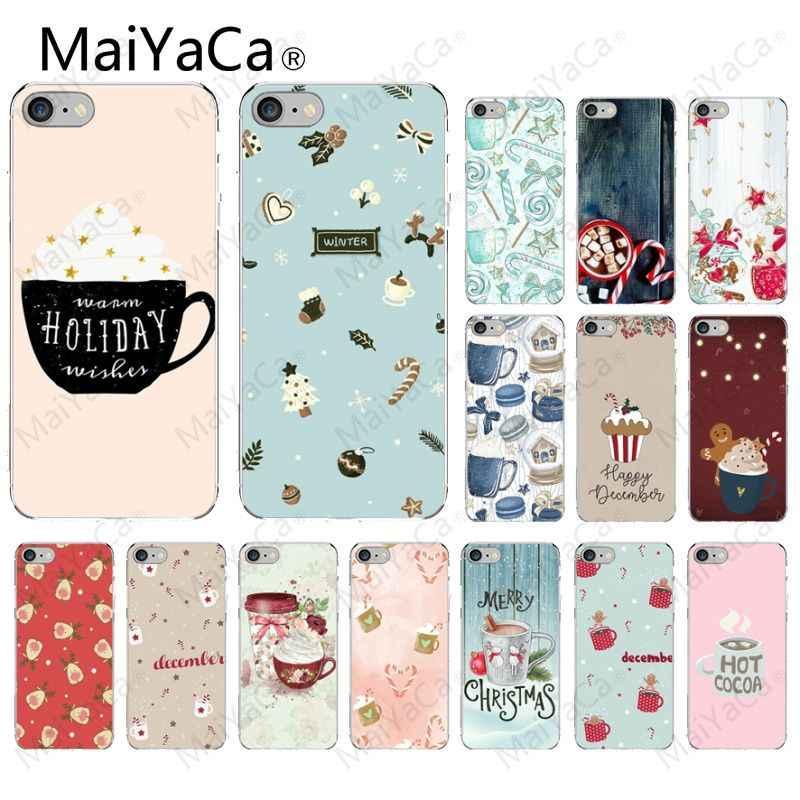 MaiYaCa cálido invierno vacaciones café personalizado foto suave funda de teléfono para iPhone X XS MAX 6 6 s 7 7 8 8 plus 5 5S SE XR