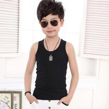 Boys T-shirt 2017 summer children's clothing baby bottoming shirt kids t shirts Sleeveless cotton Solid Color Girls Boys clothes