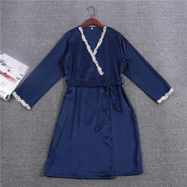 Moda das Mulheres Vestes Vestes De Casamento Da Dama de honra Frete Grátis 2017 Primavera New Design Roupão Kimono vestido Longo Laço de Cetim Quente