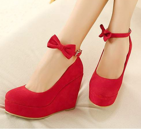 42669d82d93 Sexy Black Red Closed Toe Platform Wedge Heels Shoes For Women High Heels Strappy  Wedges Woman Wedding Bridal Party Sandal Pumps-in Women s Pumps from Shoes  ...