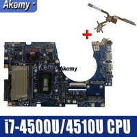 For Asus UX303UB UX303U UX303UB U303U 노트북 마더 보드 메인 보드 테스트 ok GT840M 4GB RAM i7-4500U/4510U CPU sed-Heatsink