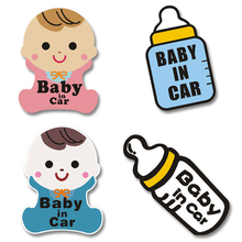 Новые светоотражающие наклейки для детей в автомобиле, предупреждающие автомобильные наклейки для детей, персонализированные автомобильные милые наклейки из мультфильмов, детские цветные украшения для автомобиля