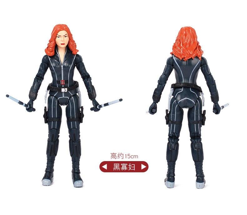 Marvel Legends Civil War Hawkeye Black widow lovers Action Figure 2pcs//set