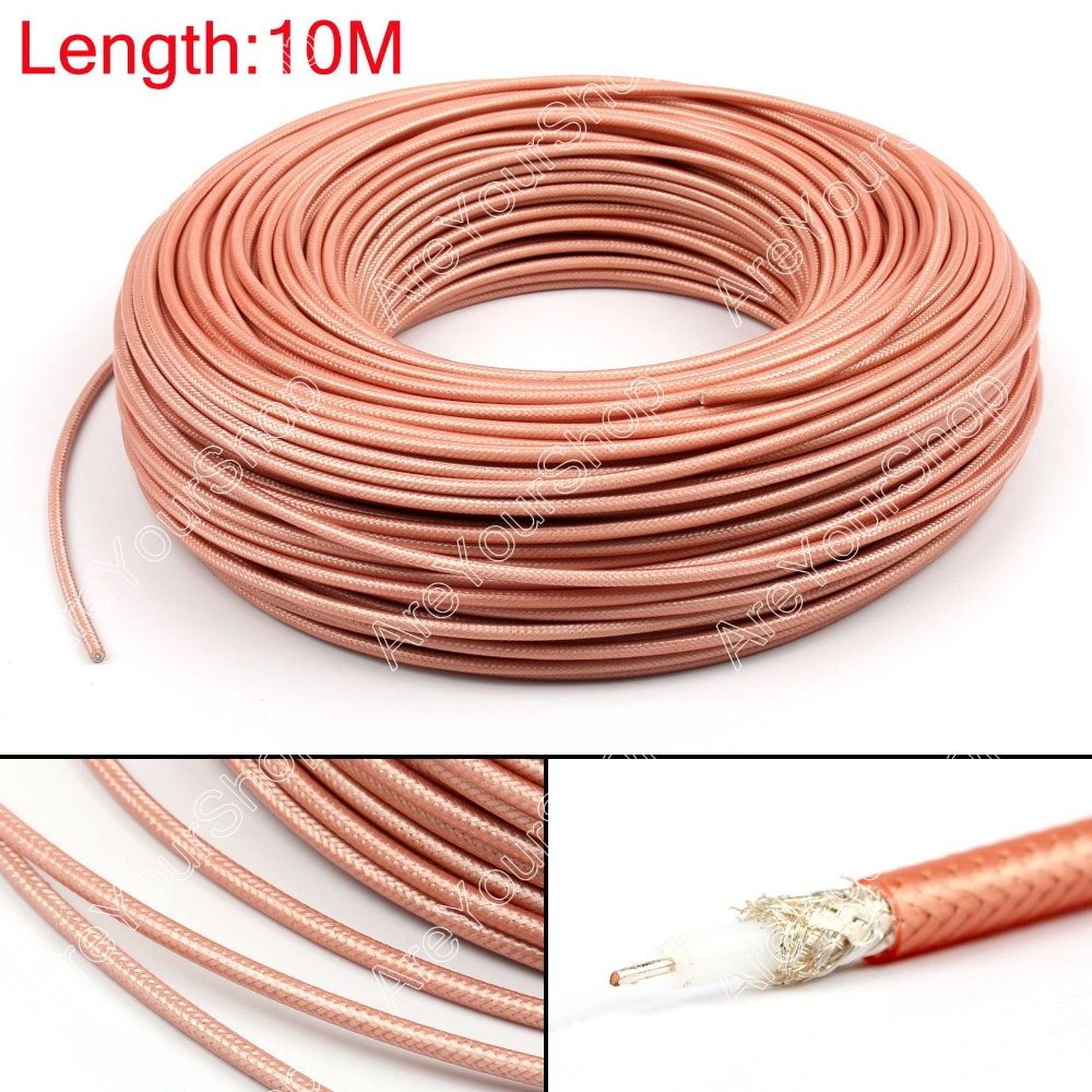 Areyourshop Sale 1000cm RG142 RF Coaxial Cable Connector 50ohm M17 60 RG 142 Coax Pigtail 32ft