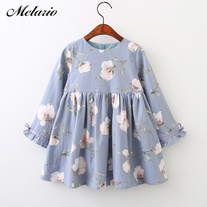 Melario vestidos de niñas 2019 de Niños de moda vestido de niña de dibujos animados de manga larga princesa vestido de moda vestidos de niños de la ropa de los niños