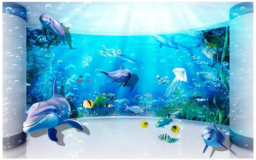 3d wallpaper custom photo non-woven mural picture wall sticker Dream underwater world painting 3d room murals wallpaper custom photo 3d wallpaper non woven mural wall sticker the big tree on the grass painting picture 3d wall room murals wallpaper