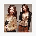 New Girl Shine Glitter Sequin Short Jacket Coat Crop Top Hot Jazz Dance Costume