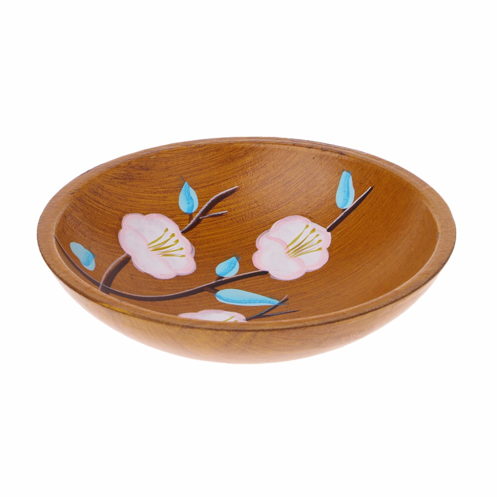Hand Painted Flowers Serving Plate Round Fruit Dessert Snack Candy Platter Bowls Home Tableware C42 1
