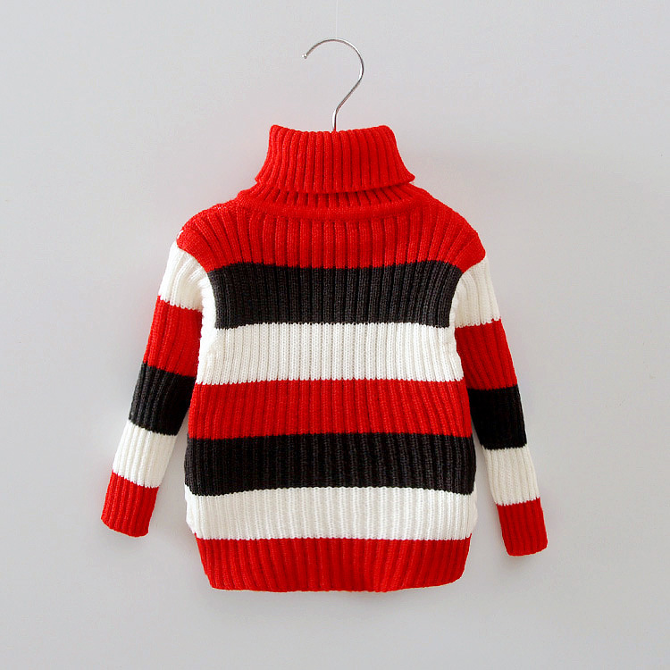 Autumn-Winter-Baby-Girls-Boys-Cotton-Striped-Long-Sleeve-Turtleneck-knitting-Sweaters-Tops-1