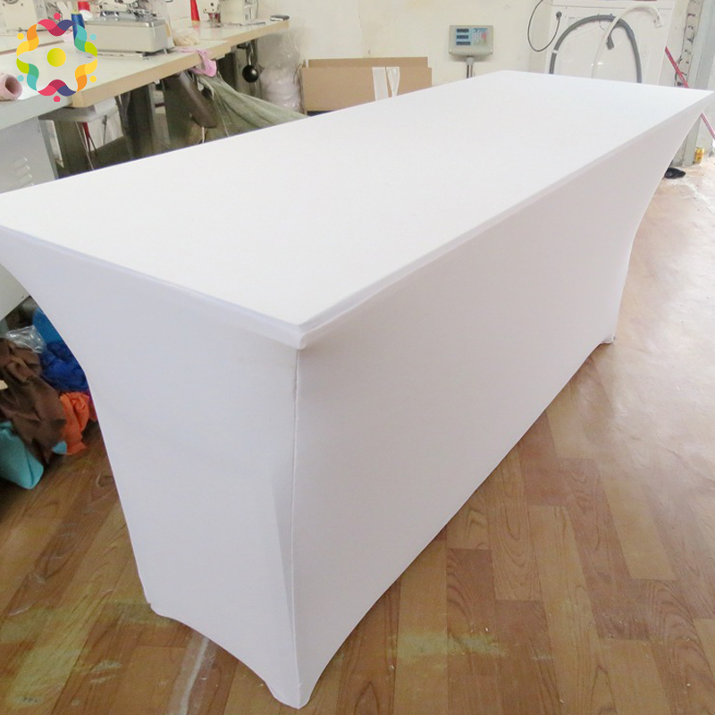 Zjfc 4ft 6ft 8ft Rectangular Table Cover Spandex Lycra Stretch