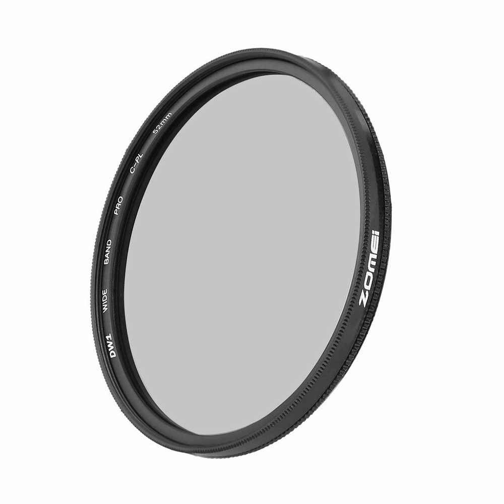 Zomei ince HD CPL filtre cam 49mm 52mm 55mm 58mm 62mm 67mm 72mm 77mm 82mm dairesel polarize polarize kamera lens DSLR