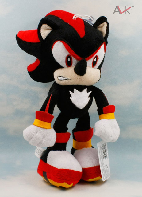 29CM Black Sonic the Hedgehog Plush Stuffed Toys