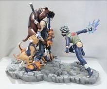 Naruto Action Figures Kakashi vs Momochi Zabuza Resin 360mm Collectible Model Toy Anime Naruto Shippuden