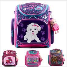 Delune 2016 New European Children School Bag Girls Boys Backpack Cartoon Mochila Infantil Large Capacity Orthopedic Schoolbag