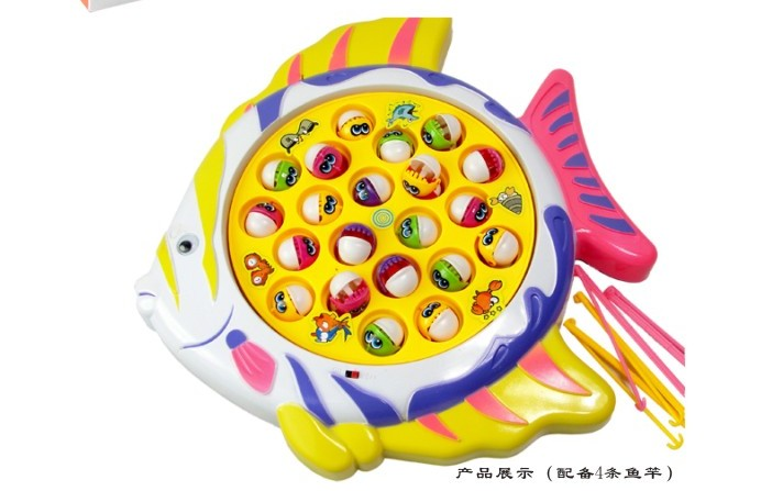 Electric Fishing Game Fish Dish Children's Educational Toys Battery Operated Sounding Unisex Electronic 2020