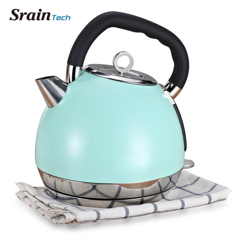 SrainTech 1800W Stainless Steel Electric Kettle 1.8L Nice Design #304 Food Grade Electric Kettle with Nice Handle High Capacity food grade 304 stainless steel electric kettle water heated