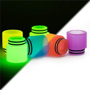 цена на 810 Resin Drip Tip Luminous in Dark for TFV8 big baby X-priv I-Priv Kit TFV12 prince I just 3 tank Atomizer