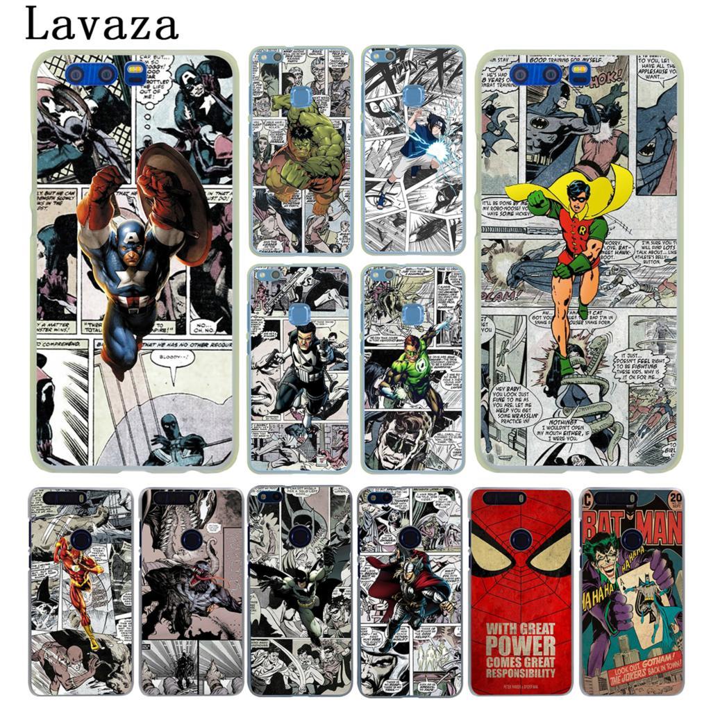 Lavaza Бэтмен Человек-паук Wonder woman футляр для huawei Y6 Y5 Y3 II Y7 2017 Nova 2 плюс 2 S 2i и честь 9 8 Lite 7 7X6 6A 6X