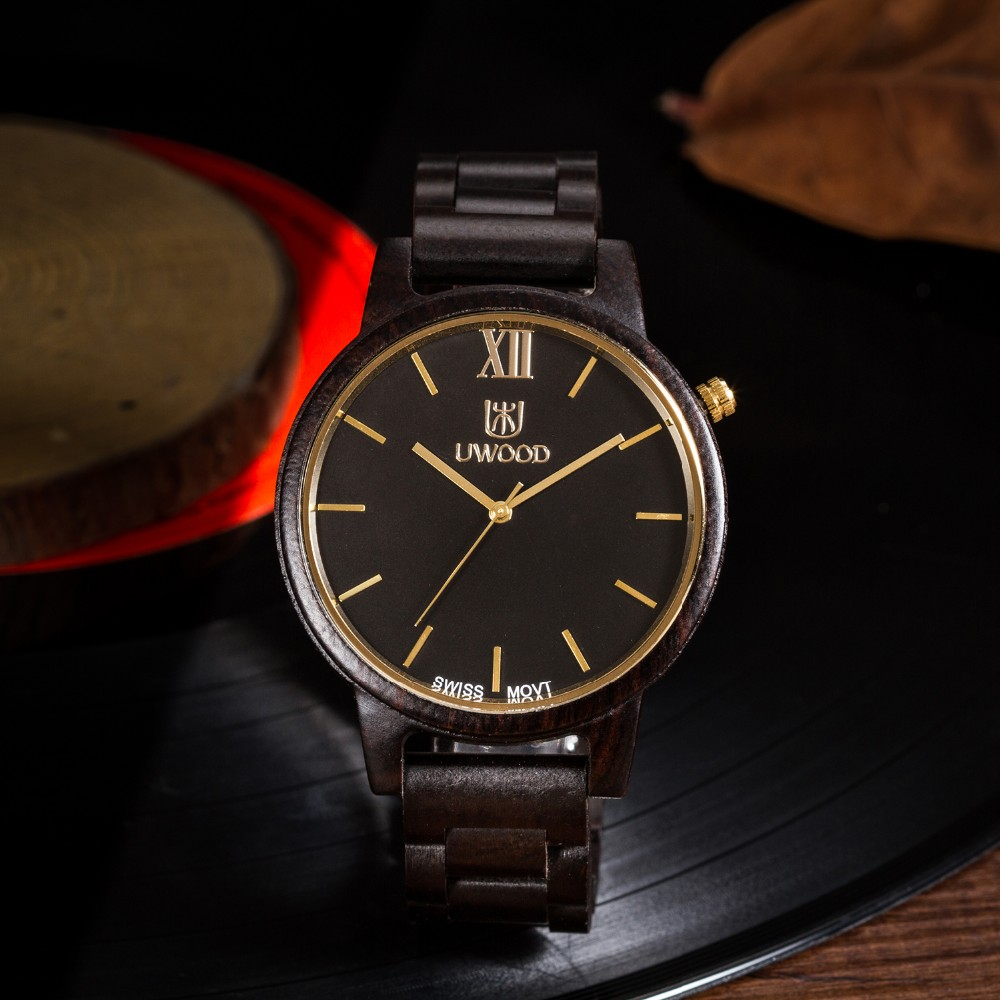Natural Bamboo Wooden Watch Brand new analog men wood watch slim designer 16 Strap Japanese Quartz Movement Casual Watches 3