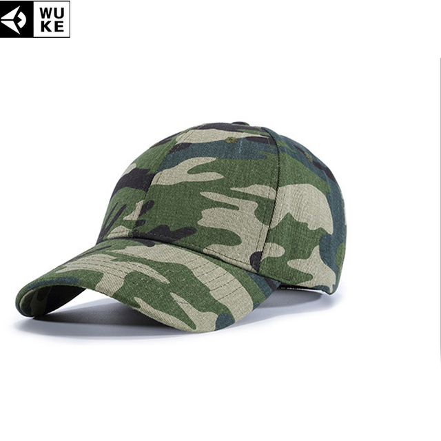 e1e20968866 WUKE New Camo Baseball Caps Men s Snapback Hats Gorras Militares Hombre  Army Camouflage Caps Women Adjustable Baseball Caps