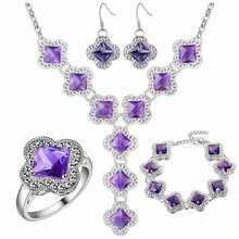 Thick silver plated jewelry set 925 wholesale fashion