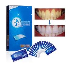 28 шт./14 пар 3D продвинутый белый гель для отбеливания зубов полоски удаление пятен гигиена полости рта чистый двойной эластичный отбеливатель стоматологический инструмент