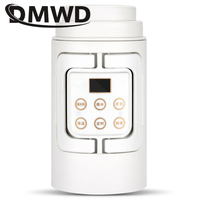 DMWD Thermal Insulation teapot MINI Electric kettle travel folding portable Slow Cooker Hot Water Heating Milk Boiler Coffee cup
