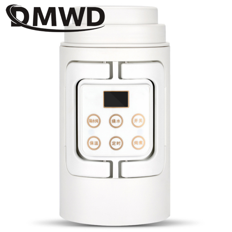 DMWD Thermal Insulation teapot MINI Electric kettle travel folding portable Slow Cooker Hot Water Heating Milk Boiler Coffee cup цена и фото