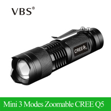 Waterproof Q5 LED Flashlight High Power 2000LM Mini Spot Lamp Portable 3 Models Zoomable Camping Equipment Torch zaklamp