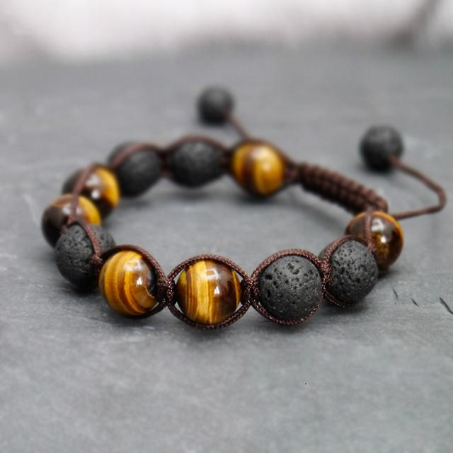 Volcanic Lava Stone Bracelet for Men