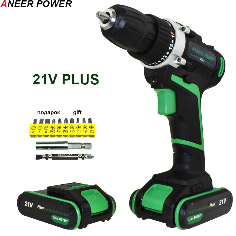 21v Plus Electric Drill Cordless Drill Battery Drill Batteries Electric Screwdriver Power Tools Mini Drilling Screwdriver 12v power tools electric drill electric cordless drill electric drilling battery drill 2 batteries screwdriver new style