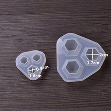 2Sizes DIY Silicone Mold Resin Mould Small Diamond Handmade Silicone Mould Pretty Pendant Jewelry Making Mold Craft tools