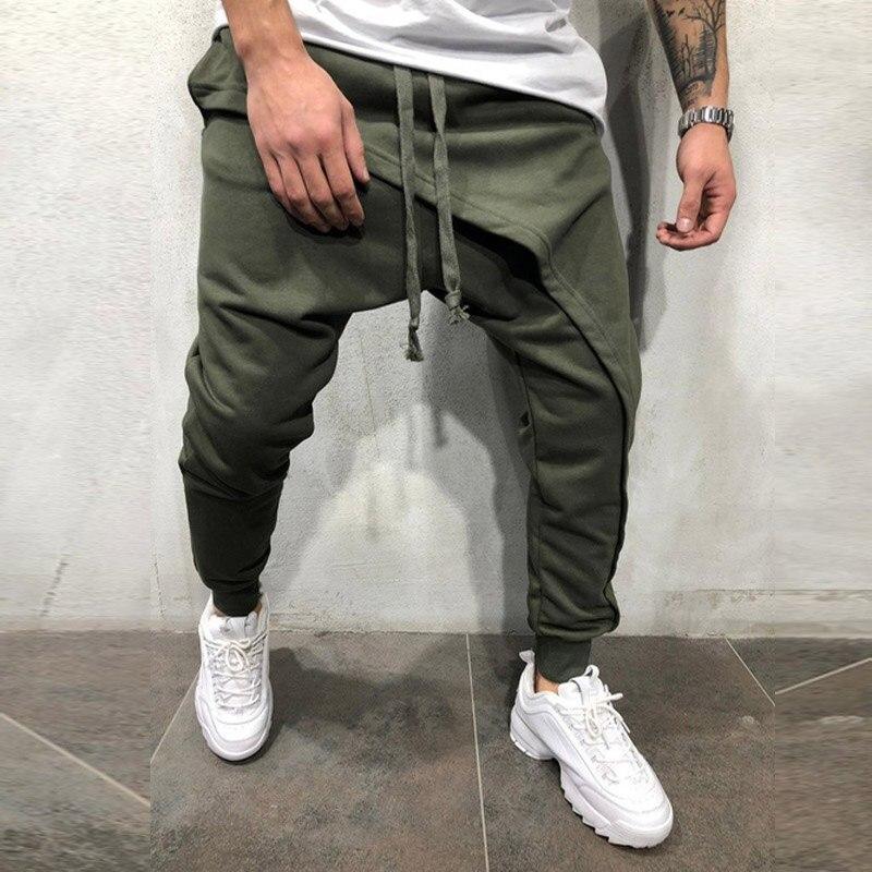 2019 Men's Clothing Black Harem Pants Men Pocket Joggers Trousers For Men Causal Hip Hop Sweatpants Tracksuit Kargo Pantolon